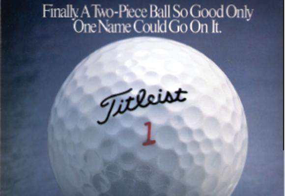 1991 타이틀리스트의 명성을 이어갈 최초의 투피스 볼인 HVC볼이 선보이다.