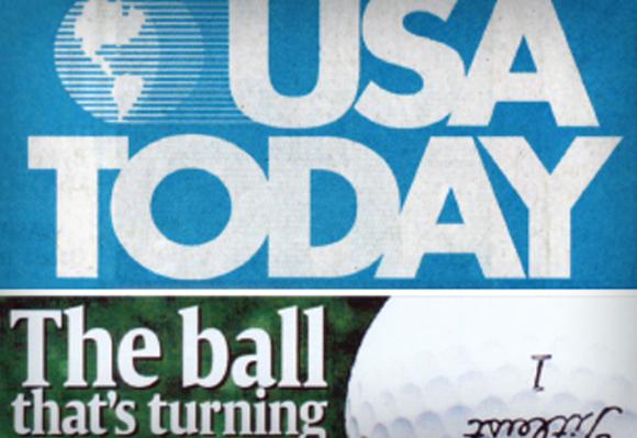 2001 Pro V1이 '골프의 판도를 뒤집어 놓을 골프볼'로 USA Today 일면을 장식하다.