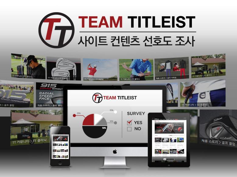 팀 타이틀리스트 사이트 컨텐츠 고객 선호도 조사